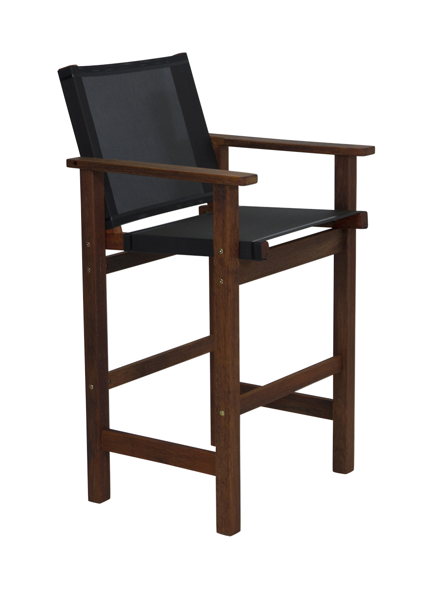 Kwila Bar Chair Text Sling Black
