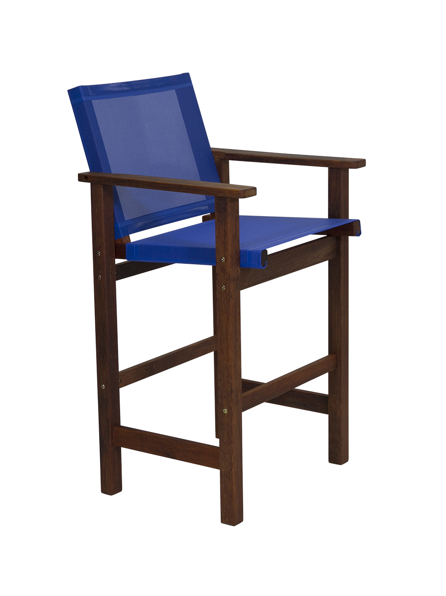 Kwila Bar Chair Text Sling Cobalt
