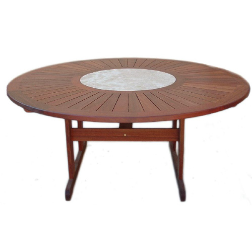 Kwila Marble 1800 Round Dining Table