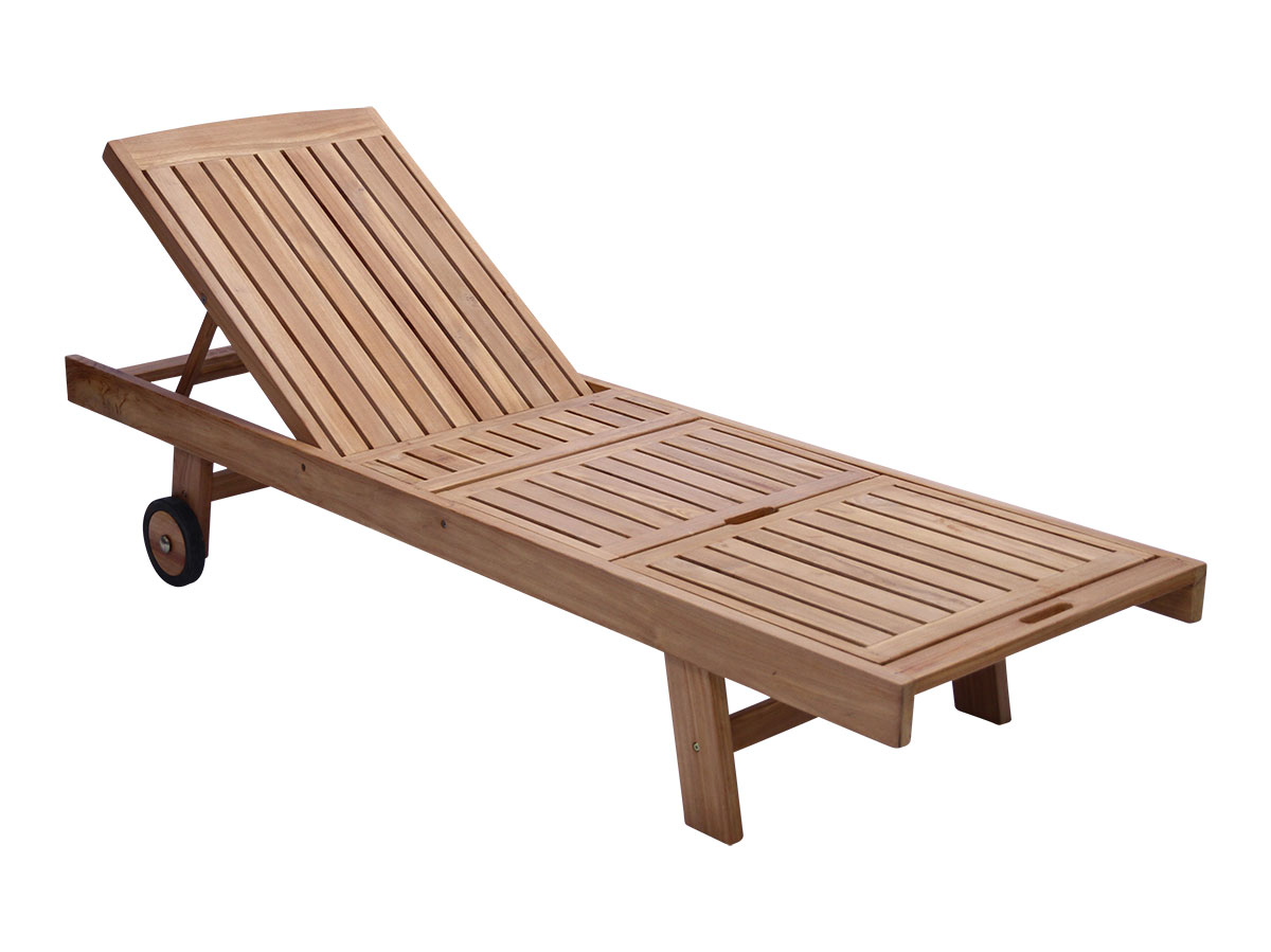 Teak Adjustable Sunlounge