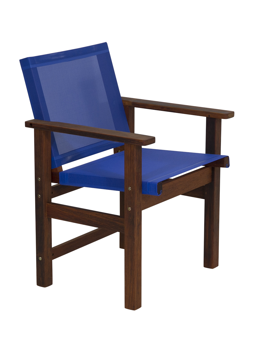Kwila Dining Chair Text Sling Cobalt