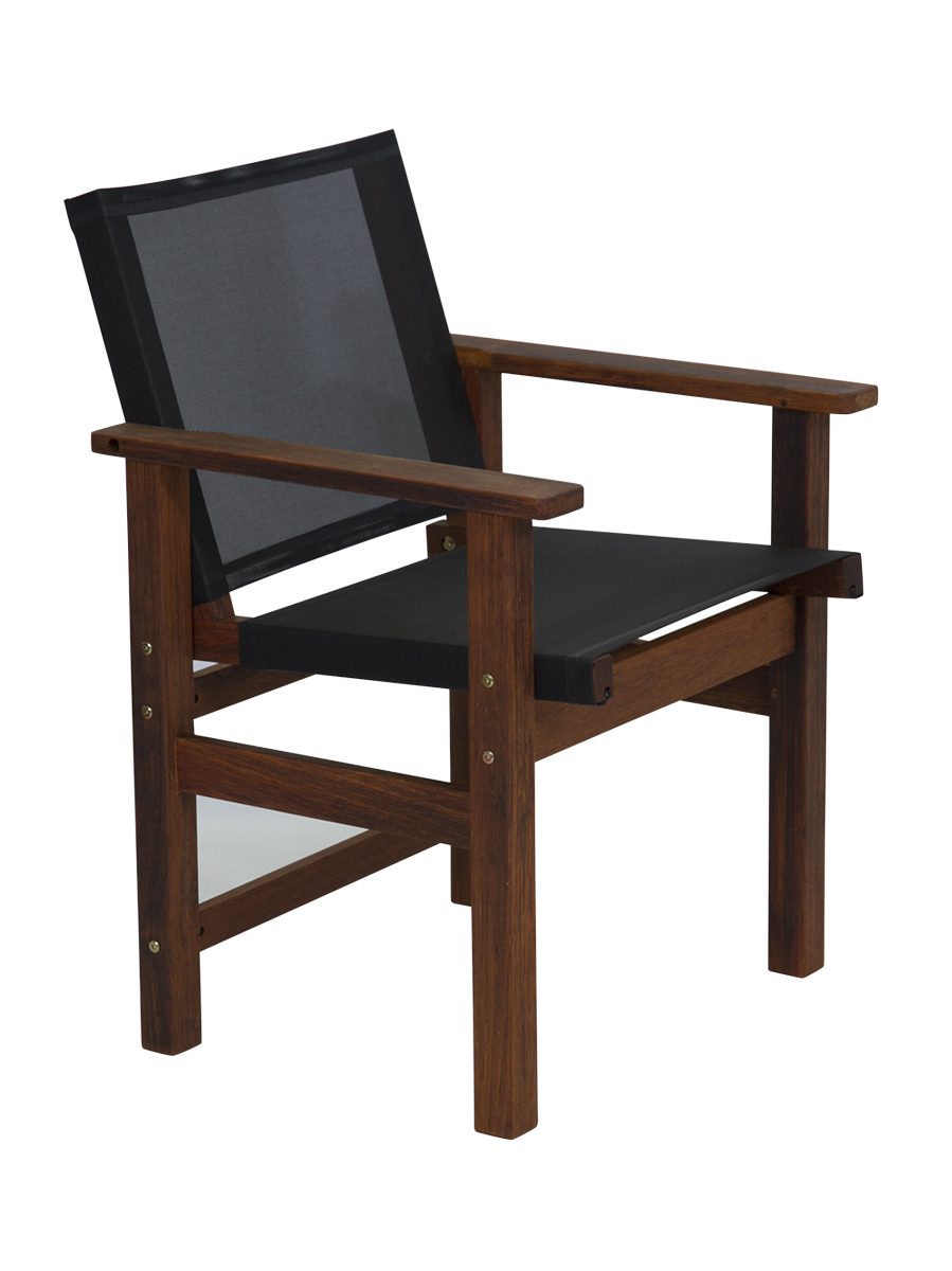 Kwila Dining Chair Text Sling Black