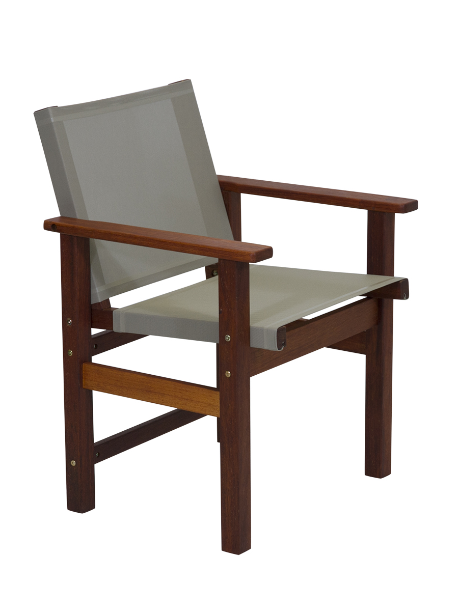 Kwila Dining Chair Text Sling Oyster