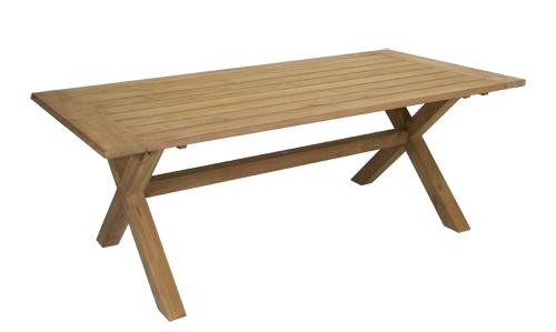 Teak X Leg Dining Table 2.0m