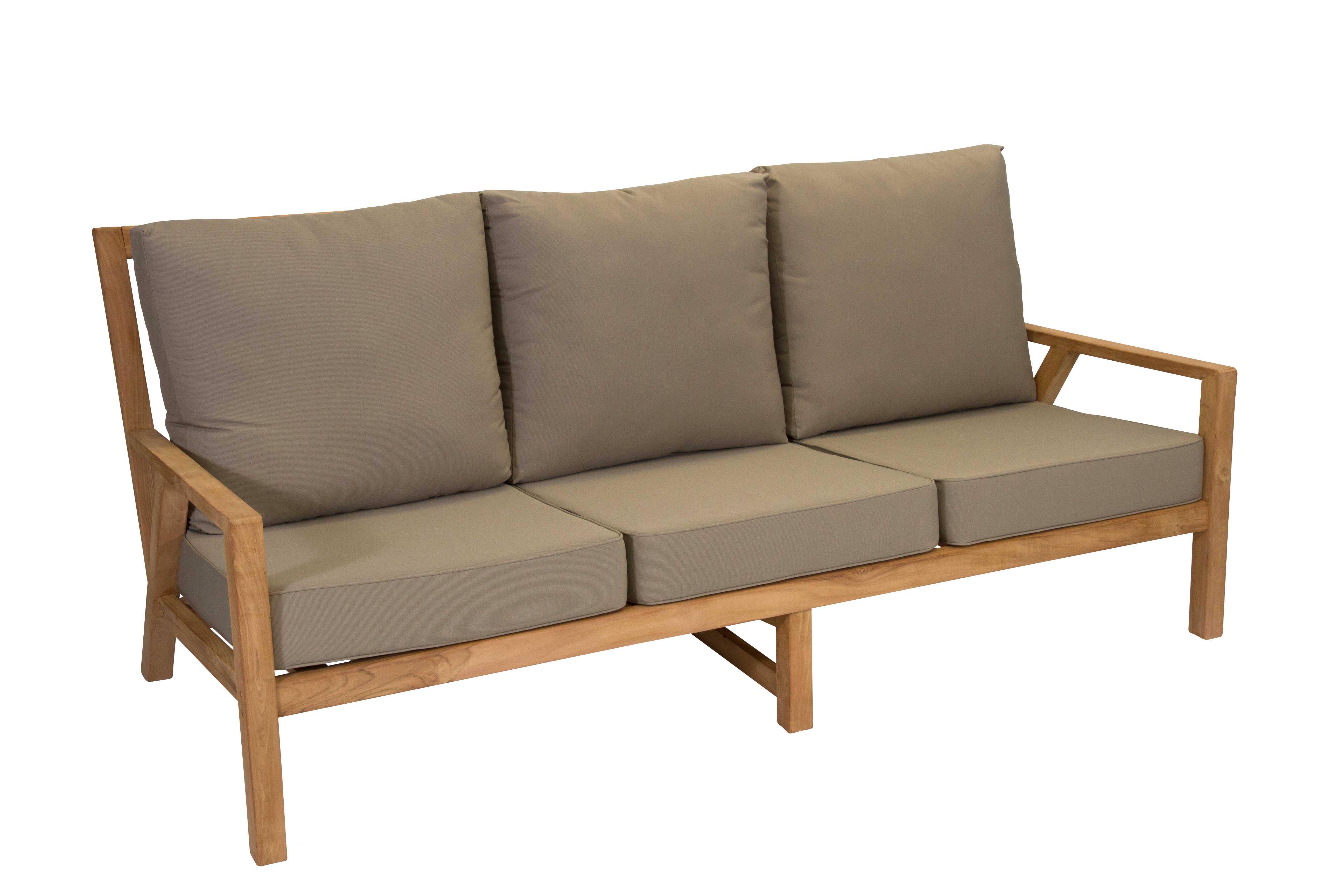Teak 3 Seater Sofa
